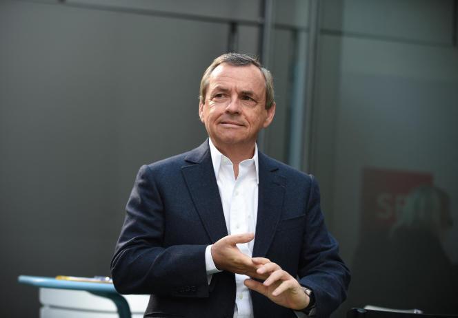 Alain Weill, alors PDG de SFR-Altice, à Paris, le 11 avril 2019.