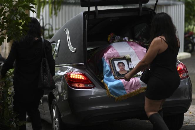 Avant les funérailles d'Andrea Gonzalez, à Guatemala, le 13 juin 2021.