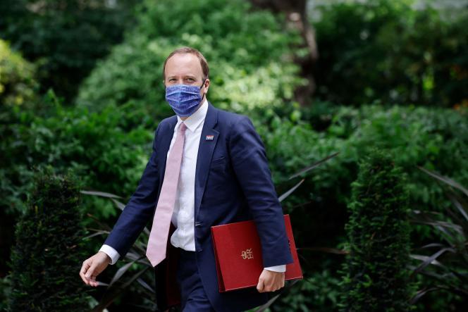British Health Minister Matt Hancock in London on June 15, 2021.