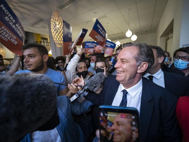 Renaud Muselier après l'annonce des résultats du second tour des élections régionales, à Marseille, le 27 juin 2021.