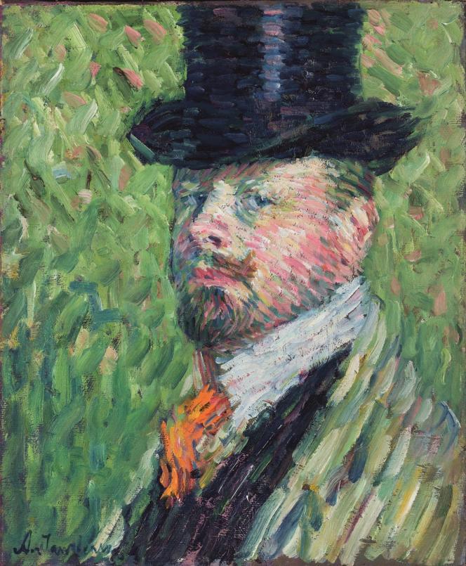 Alexej von Jawlensky, «Autoportrait avec haut-de-forme» (1904), huile sur toile, collection particulière.