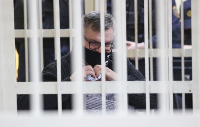 Viktor Babaryko, le 17 février 2021. L'ancien banquier biélorusse de 57ans est accusé d'avoir reçu des pots-de-vin.