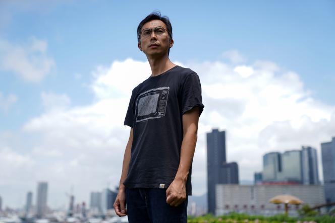 Le réalisateur Kiwi Chow, le 18 juin 2021, àKwun Tong, un quartier de Hongkong.