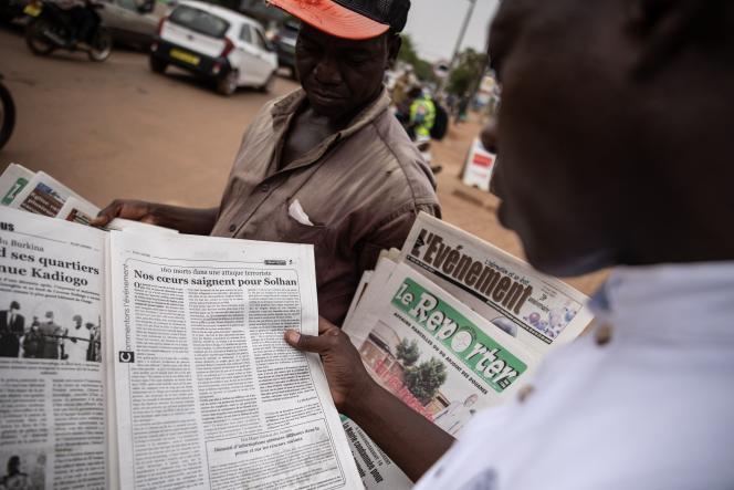 A Ouagadougou, le 7 juin 2021, après des attentats survenus à Solhan, dans le nord du pays.
