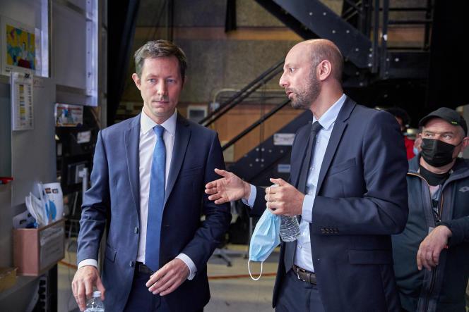 François Xavier Bellamy, LR, et Stanislas Guerini, LREM, Plateaux tele France 2 , Elections Regionales 2021