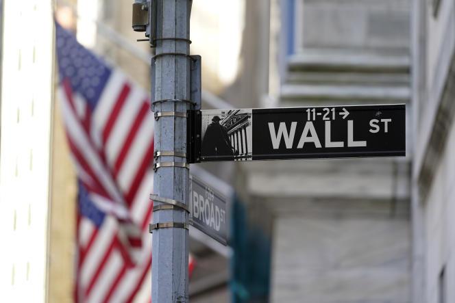 A Wall Street, à New York, le 28 juin 2021.