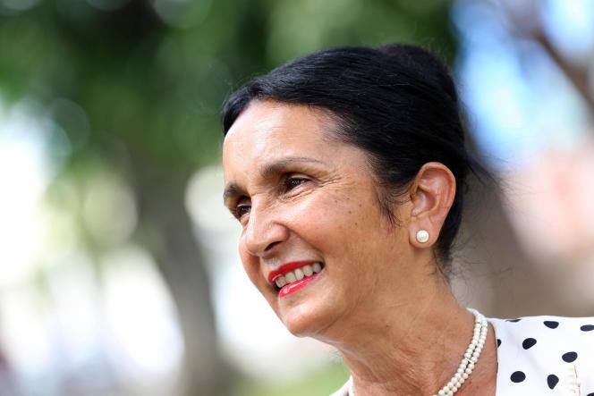 Huguette Bello, à Saint-Paul, à La Réunion, le 6 janvier 2014.