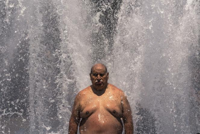 On June 27, 2021, a man was found cold under a fountain in Portland, Oregon.