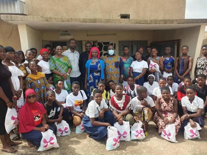 Rencontre d'échanges avec les filles, Côte d'Ivoire, 2021.