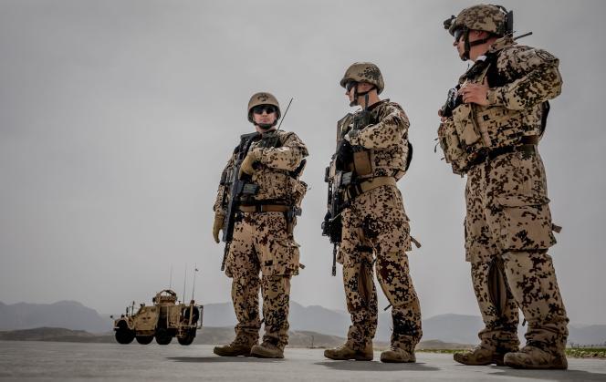 Des soldats de Bundeswehr dans un camp en Afghanistan, le 25 mars 2018.