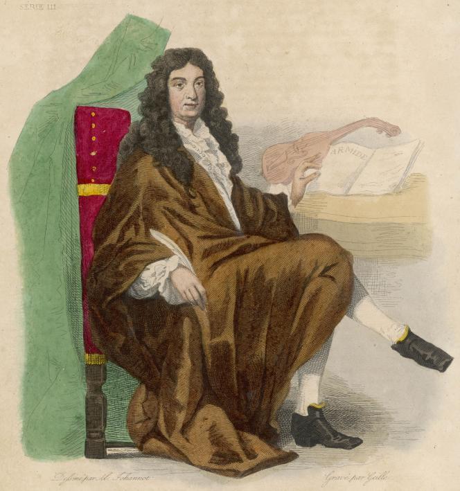Le compositeur Jean-Baptiste Lully (1639-1687), gravure de Geille, XIXe siècle.