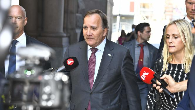 Stefan Löfven, à Stockholm, le 29 juin 2021. Le premier ministre suédois a démissioné la veille.