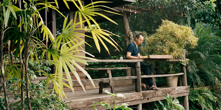 Apichatpong Weerasethakul and his home in Chiang Mai, Thailand on October 9, 2012
