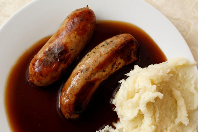 Bangers and Mash, an English and Irish dish of mashed potatoes and sausage.  The agreement between London and Brussels would allow Britain to continue shipping cold meats like English sausages to Northern Ireland.