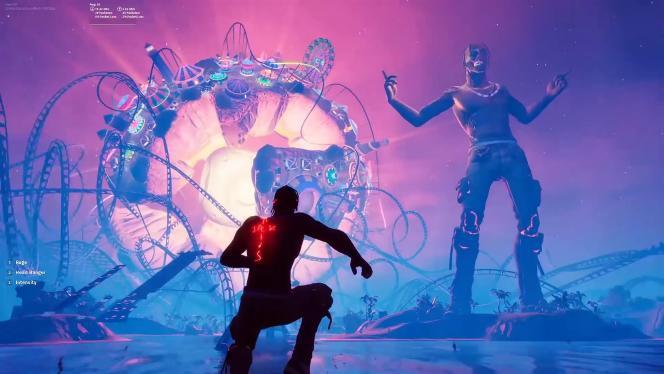 Concert futuriste de Travis Scott sur « Fortnite », en avril 2020.
