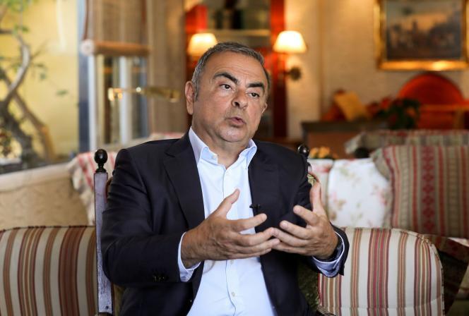 Carlos Ghosn à Beyrouth, le 14 juin 2021.