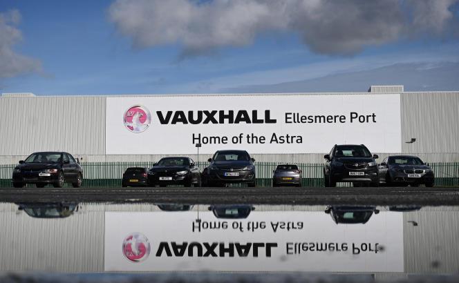 L'usine de construction automobile Vauxhalld'Ellesmere Port, dans le nord-ouest de l'Angleterre, le 22 février 2021.