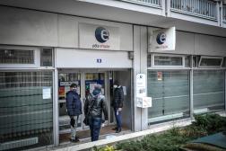 Devant une agence Pôle emploi, à Paris, le 26janvier2021.