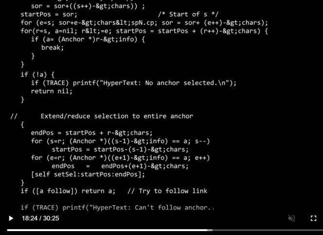 Une partie du code informatique qui constitue l'un des piliers d'Internet.