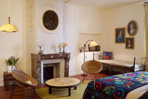 Une des chambres de la maison d'hôtes Fragonard.