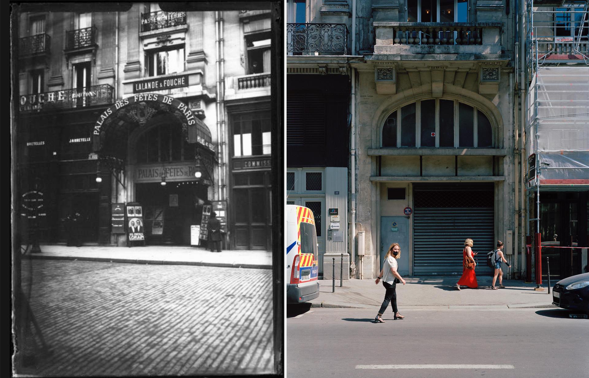 Le Palais des fêtes (Paris3e), fermé en1961.