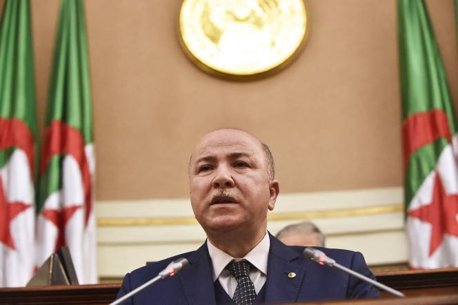 Ministro de Finanzas de Argelia, Argel, 28 de diciembre de 2020. Aïmen Benabderrahmane fue nombrado Primer Ministro el 30 de junio de 2021.