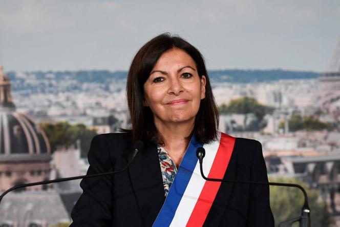 Anne Hidalgo, à l'Hôtel de ville de Paris, en juillet 2020.