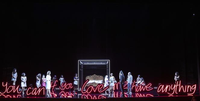 Répétitions des «Noces de Figaro», de Mozart, mis en scène par Lotte de Beerau Festival d'Aix-en-Provence, en juin 2021.