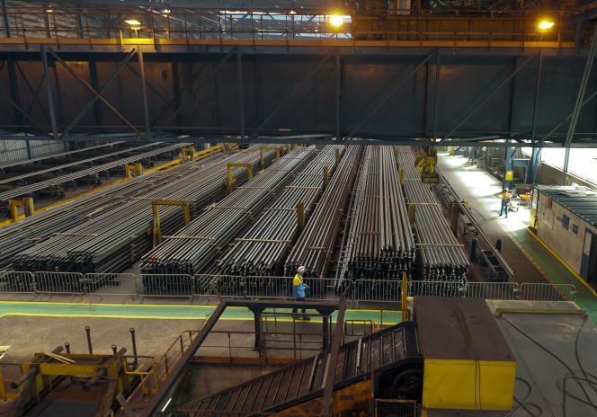 Le site d'Hayange (430 salariés), ici en 2011, fabrique des rails en acier pour des clients européens, notamment SNCF Réseau et la RATP.