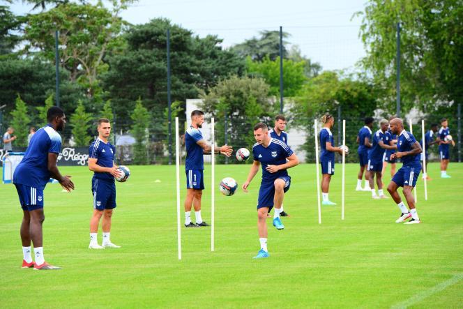 Les Girondins de Bordeaux à l'entraînement, jeudi 1erjuillet 2021.