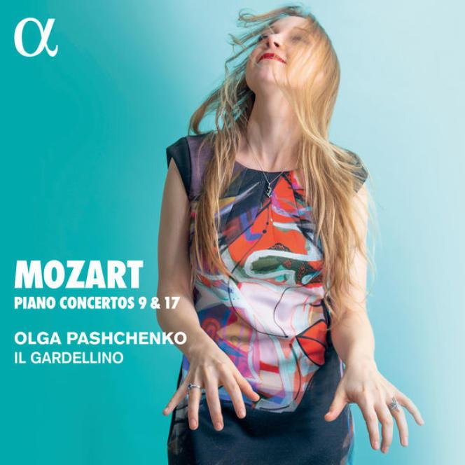 Pochette de l'album « Mozart– concertos pour piano n°9 et n°17 », par Olga Pashchenko.