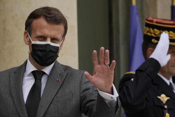 Emmanuel Macron, président de la République, lors du forum «Génération Egalité» de l'ONU, à Paris, en juillet 2021.