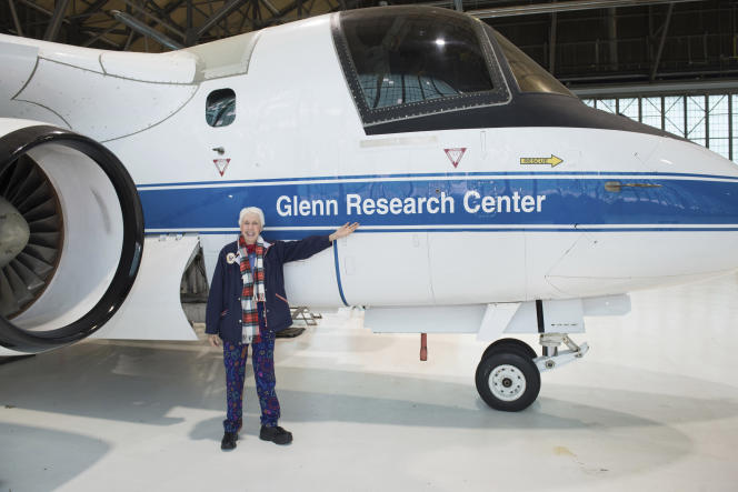 Wally Funk au Glenn Research Center de la NASA, à Cleveland (Ohio), en 2019.