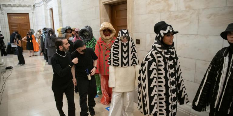 Backstage défilé Marc Jacobs femme automne-hiver 2021-2022