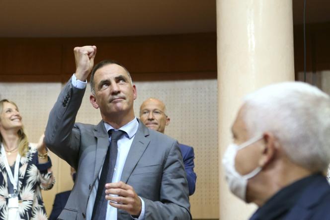 Gilles Simeoni réélu président de l'exécutif à Ajaccio, le 1er juillet 2021.