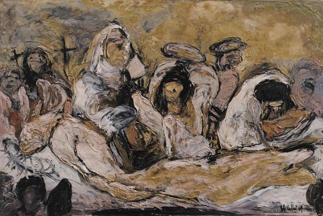 «Mise au tombeau» (1969), de Roger-Edgar Gillet, huile sur toile.