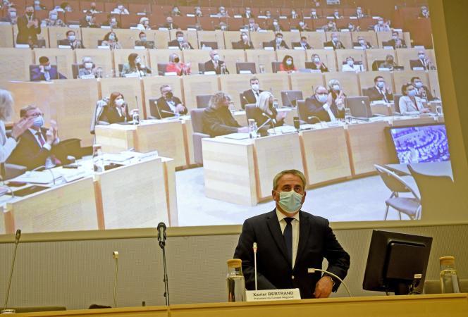 Xavier Bertrand a été réélu à la tête du conseil régional des Hauts-de-France, le 2 juillet, à Lille.