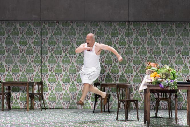 Christopher Purves dans «Falstaff », de Verdi. Mise en scène de Barrie Kosky.