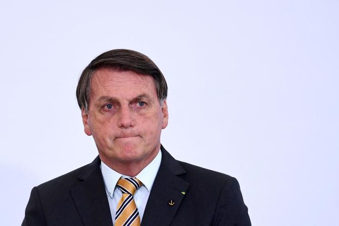 Prezydent Brazylii Jair Bolsonaro podczas inauguracji Programu Ochrony Turystyki w listopadzie 2020 r.