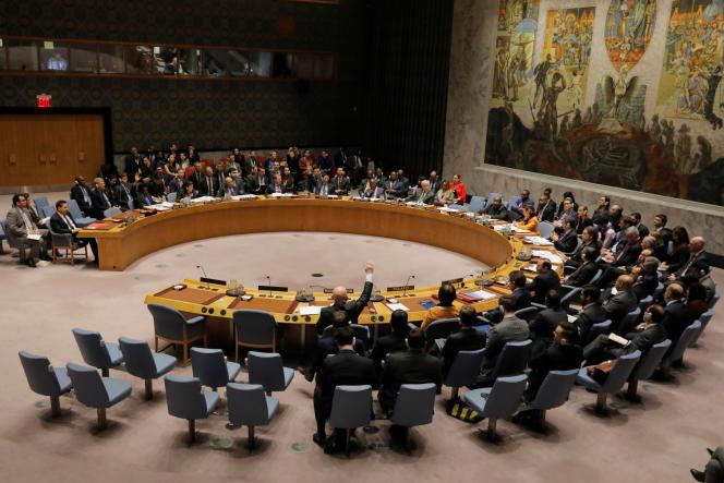 Le Conseil de sécurité de l'ONU, à New York, le 28 février 2019.
