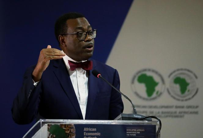 Akinwumi Adesina, le président de la Banque africaine de développement, à Abidjan, en janvier 2020.