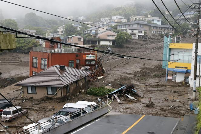 Η κατολίσθηση κατέστρεψε την πόλη Ατάμι της Ιαπωνίας, Σάββατο 3 Ιουλίου 2021.