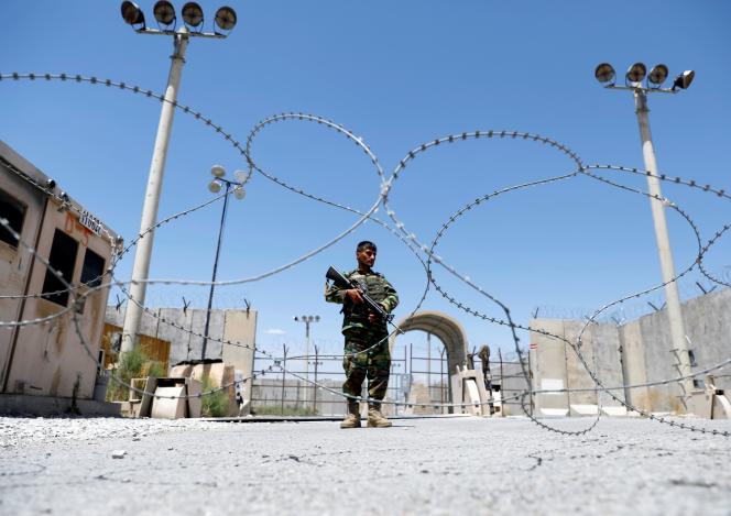 Un soldado de la fuerza afgana en la base de Bagram, el 2 de julio de 2021.