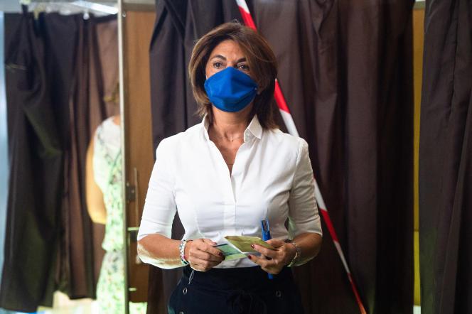 Martine Vassal, candidate Les Républicains aux élections municipales de Marseille, lors du second tour, en juin 2020.