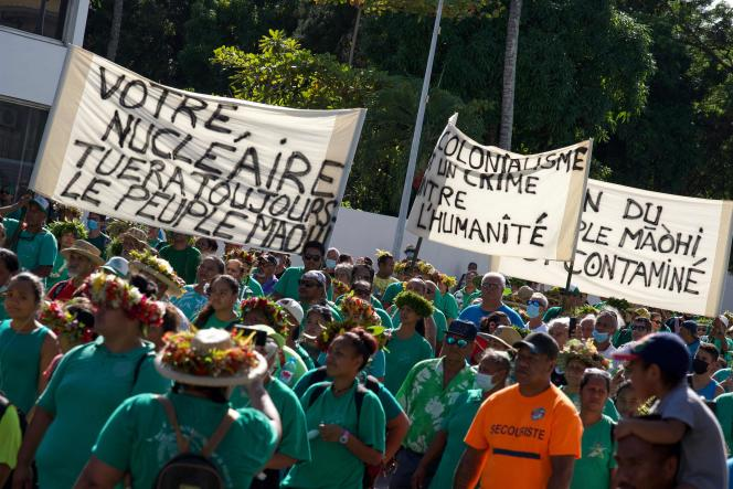March organized on July 2 in Papeete on the occasion of the anniversary of the first nuclear test carried out in French Polynesia on July 2, 1966.