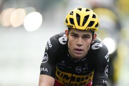 Le Belge Wout van Aert, lors de la 8e étape du Tour de France, entre Oyonnax et LeGrand-Bornand, le 3juillet 2021.