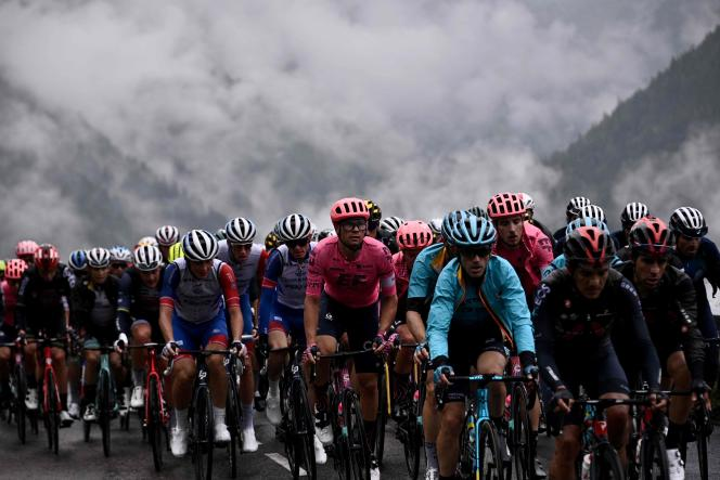 Lors de la neuvième étape du Tour de France entre Cluses (Haute-Savoie) et Tignes (Savoie), le 4 juillet 2021.