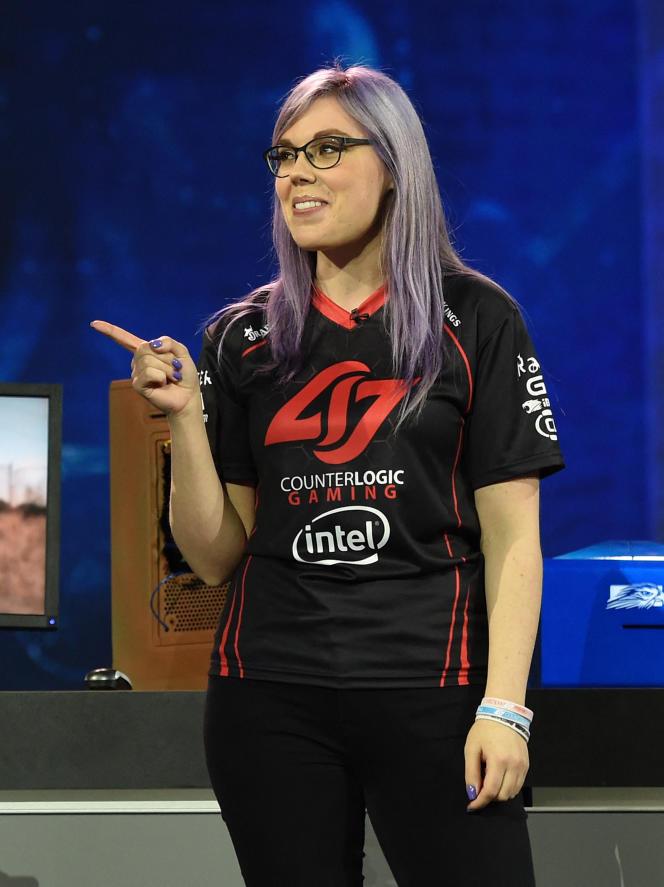 Stephanie Harvey, alias « missharvey », lors du Consumer Electronic Show (CES), à Las Vegas, en janvier 2016.