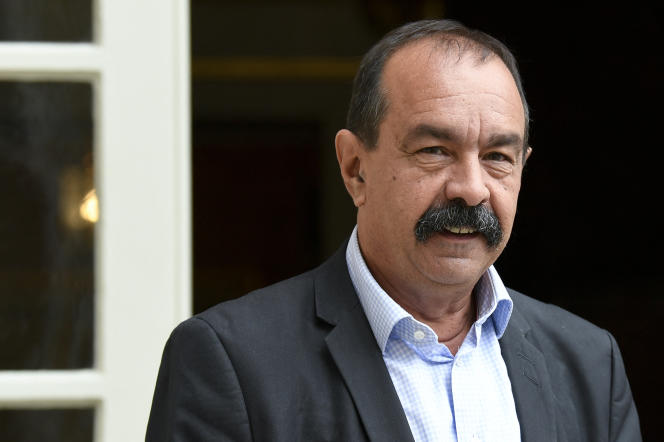 Le secrétaire général de la CGT, Philippe Martinez, le 17 juillet 2020, à Matignon, à Paris.