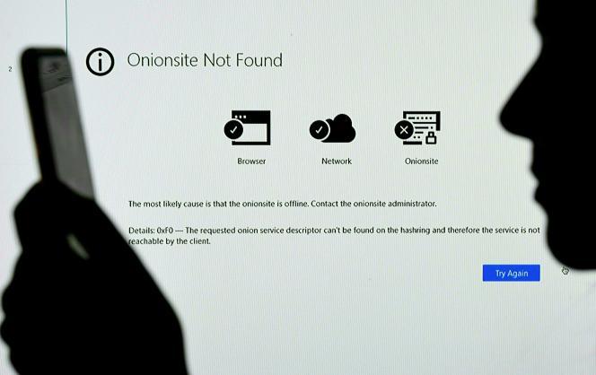 Site Internet inaccessible après un piratage, le 14 mai 2021.